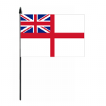 White Ensign Hand Flag - Medium.